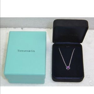 Tiffany & Co. Amethyst White Gold Pendent